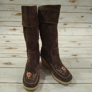 BNWOT Report Ataani Espadrille Wedge Boots